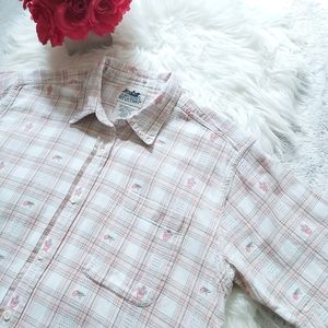 Vintage Cottagecoe Northern Reflections Plaid Top